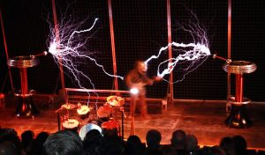 ELECTRIC Guitar sounds ignited the Tesla Coils
