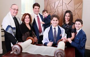 Jake and family Temple Ohs Shalom Summit NJ