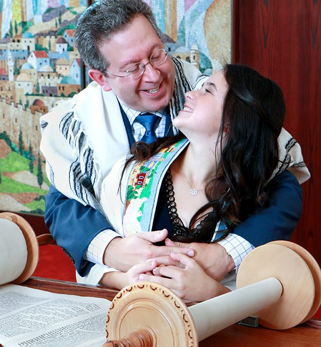 Talia and Dad Temple Adath Shalom Morris Plains NJ
