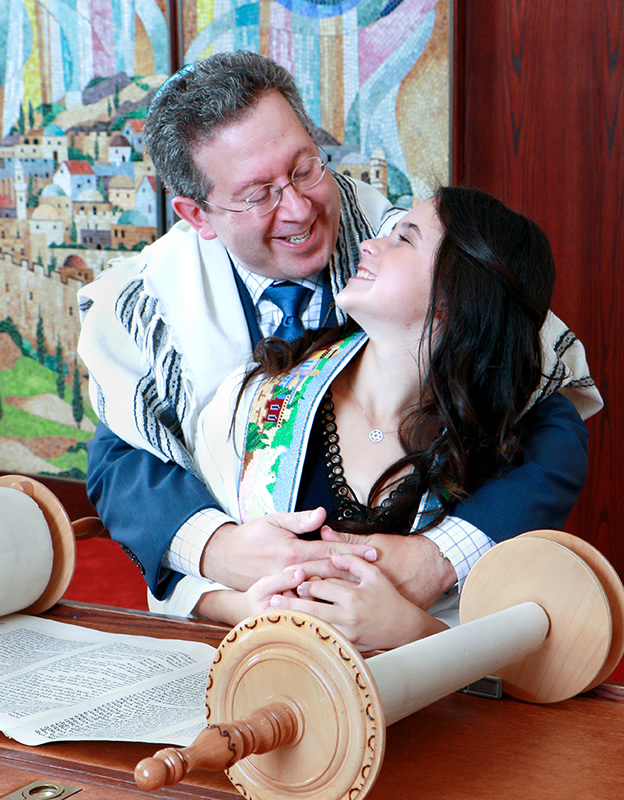 Talia and Dad Temple Adath Shalom Morris Plains NJ