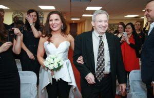 Paula's father walks her down the aisle South Orange NJ
