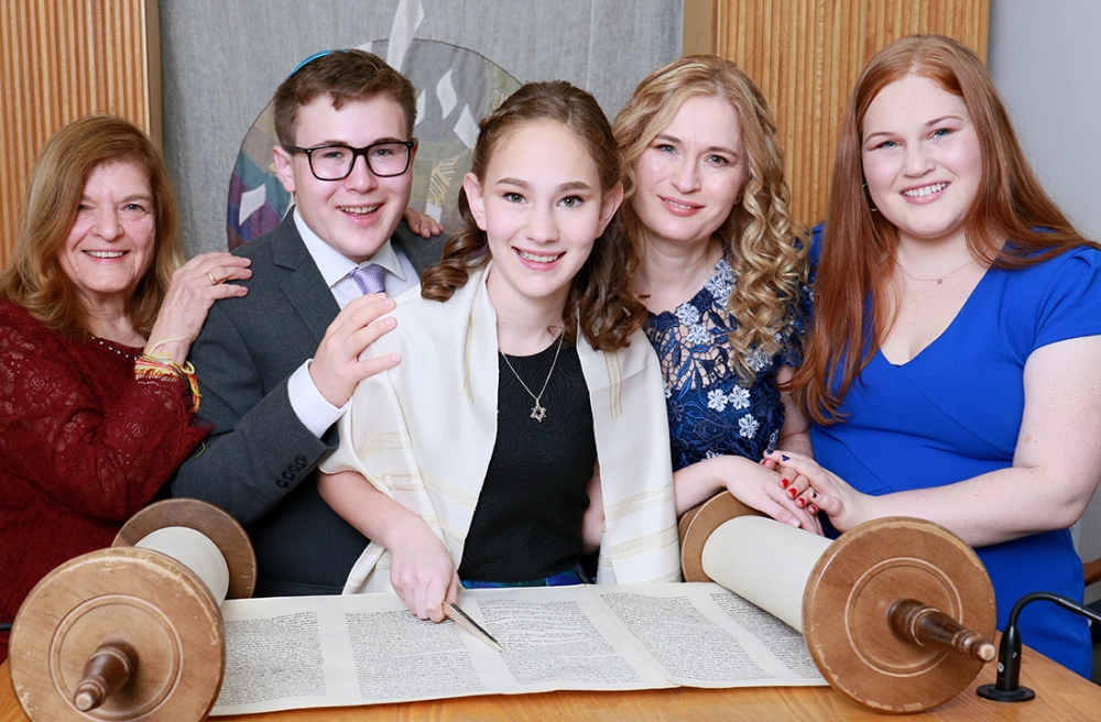 Hannah and family Temple Emanuel Westfield NJ
