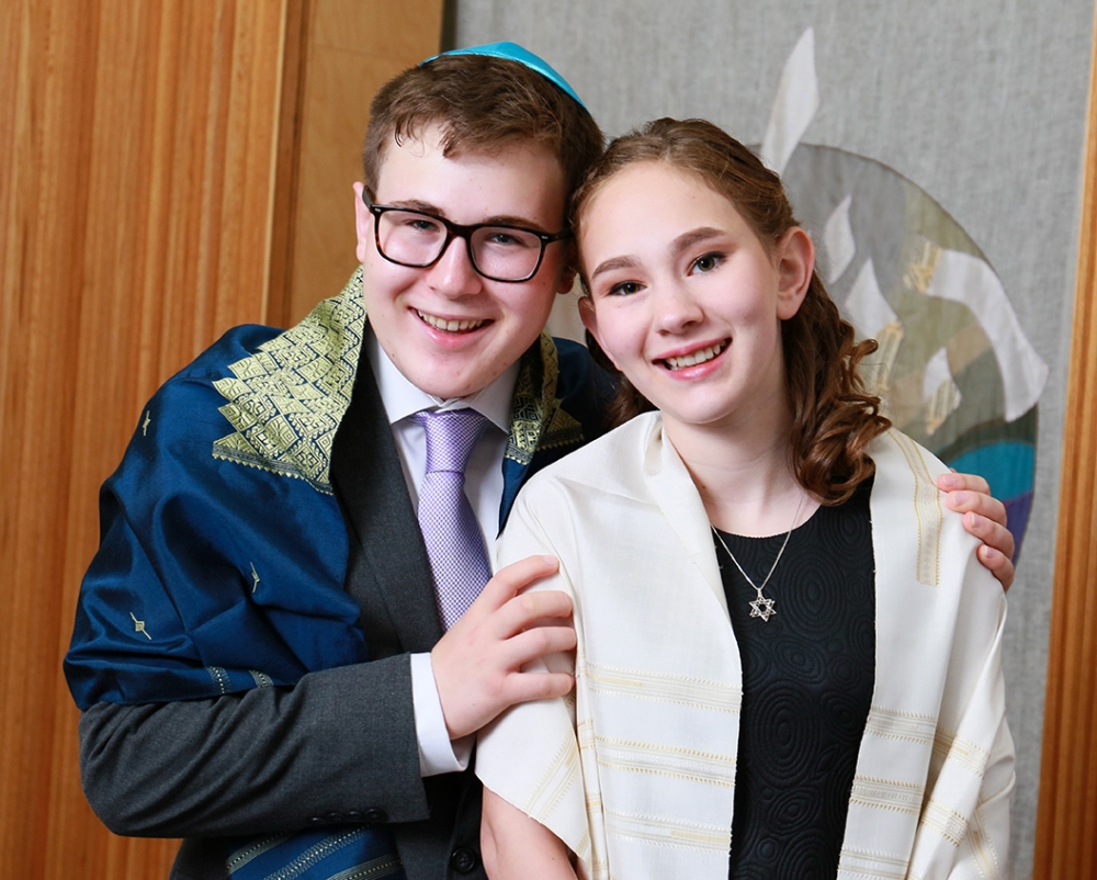 Hannah and her brother Temple Emanuel Westfield NJ