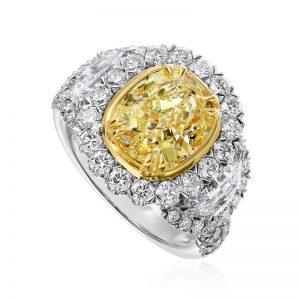 Yellow white diamonds