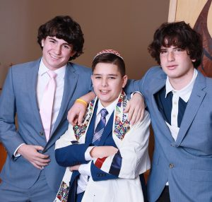 Noah and Cousins Temple Sholom Scotch Plains NJ