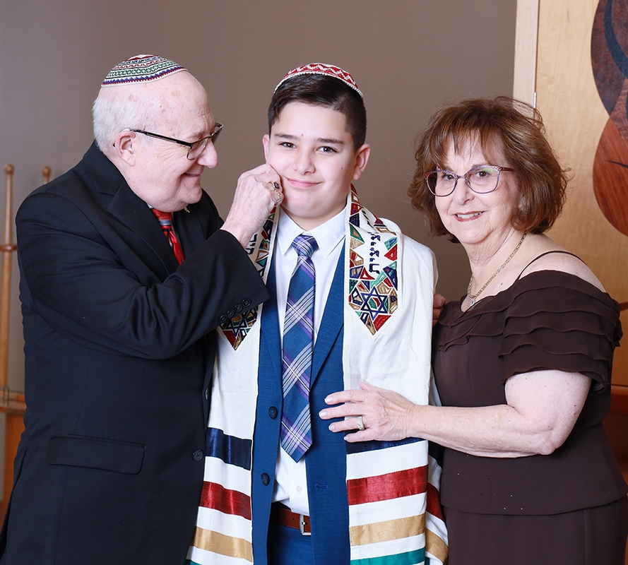 Noah and Grandparents Temple Sholom Scotch Plains NJ