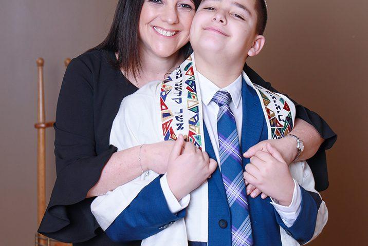 Noah and Mom Temple Sholom Scotch Plains NJ