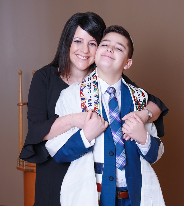 Noah and Mom Temple Sholom Scotch Plains NJ